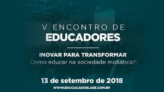 V Encontro de Educadores: inovar para transformar