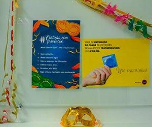 Cartazes informativos da Campanha de Carnaval do IESPE.